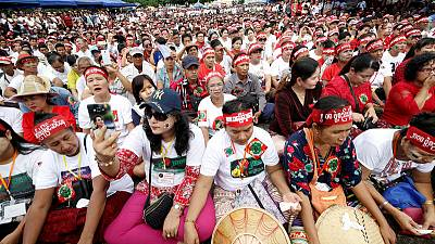 Suu Kyi's bid to reform charter sparks rival protests in Myanmar