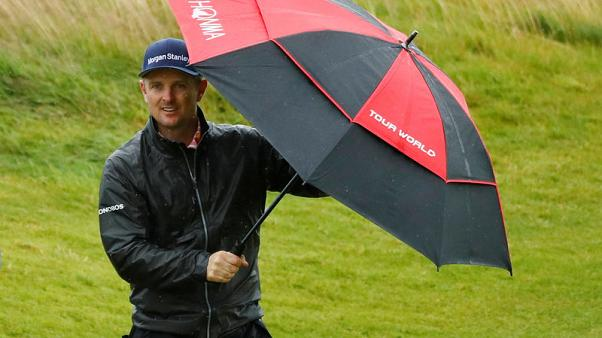 Rain sweeps in on final Open practice day at Portrush