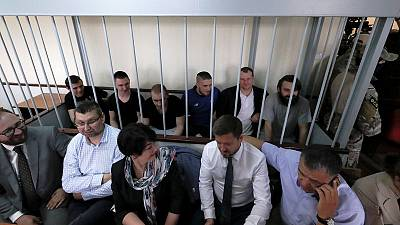 Russian court extends arrest of a group of Ukrainian sailors