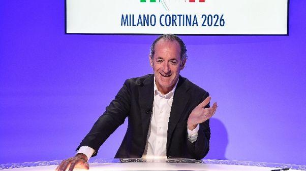 Milano-Cortina: Zaia, metodo industriale