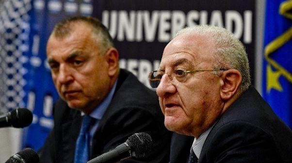 Universiadi:De Luca, obiettivi raggiunti