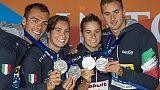 Staffetta Mondiali nuoto, argento Italia