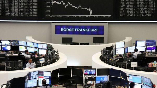 European shares fall as tech heavyweight SAP flags trade worries