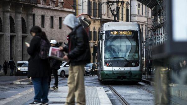 Tram urta bus a Roma, alcuni contusi