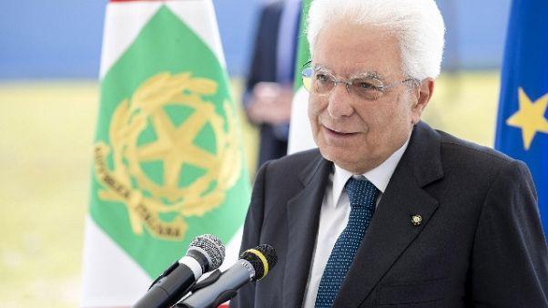 Mattarella, impegno per vittime di mafia