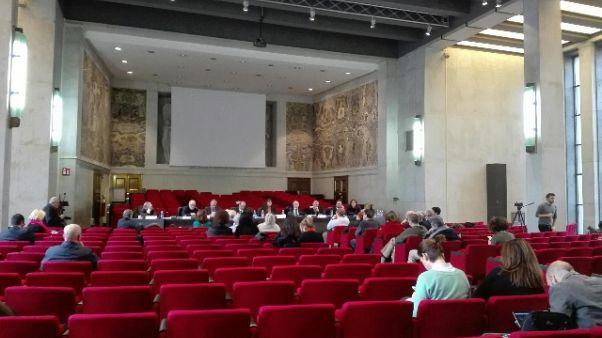 Camera ardente Borrelli in Tribunale