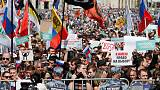 Thousands protest in Moscow after opposition barred from city vote