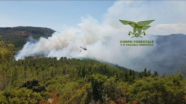 Vasto incendio nel sud Sardegna