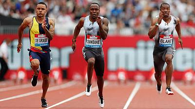 Athletics - Simbine takes London 100m honours
