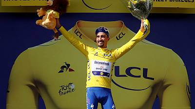 Alaphilippe, Pinot shine on Tour's Tourmalet to lift home hopes
