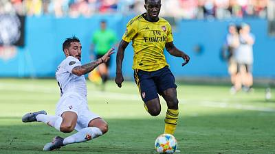 Nketiah scores double as Arsenal make it two wins from two in ICC