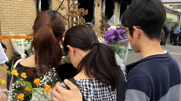 A 'shy, talented drawer' - mourner remembers friend lost in Japan arson attack