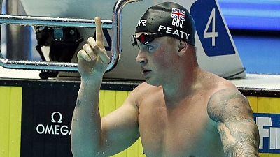 Briton Peaty breaks 100 metres breaststroke world record