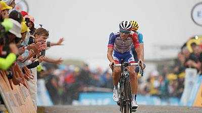 Cycling - Pinot tames rivals again as Yates takes stage win