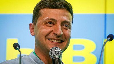 Ukraine president's party declares winning majority in parliament
