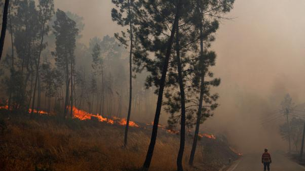 Villagers angry as Portugal wildfire still rages