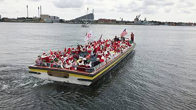 Summertime, and the living is easy for Santas in Copenhagen