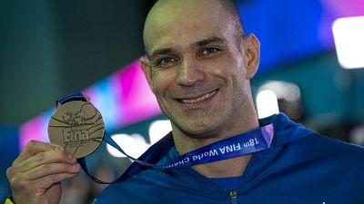 Mondiali nuoto: un 39enne sul podio
