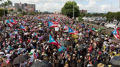Massive San Juan protest demands Puerto Rico governor resign