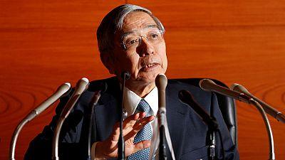 BOJ's Kuroda says will mull impact of global uncertainty on economy