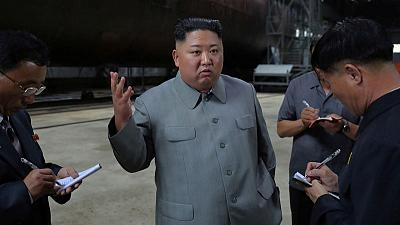 North Korea's Kim Jong Un inspects new submarine, points out weapons systems - KCNA