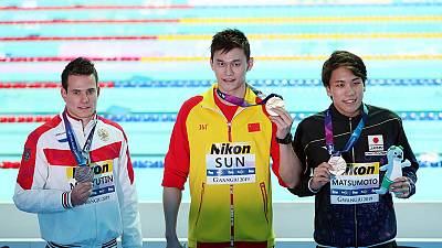Scott blanks Sun on podium after Chinese wins 200 freestyle