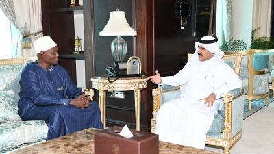 Secretary General of Ministry of Foreign Affairs Meets Charge d'Affaires of Chad