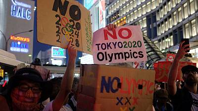 Olympics: More than 100 people protest in Tokyo against 2020 Olympics