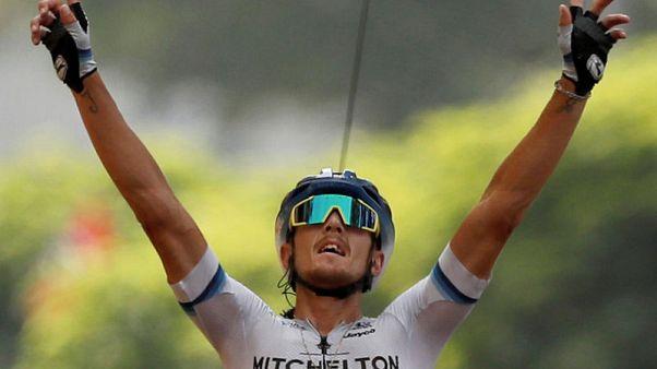 """ترنتين يفوز بالمرحلة 17 """"المتوترة"""" في سباق فرنسا للدراجات"""