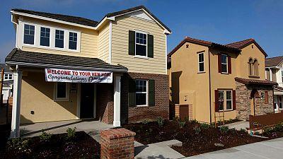 U.S. new home sales rebound; prior three months revised down