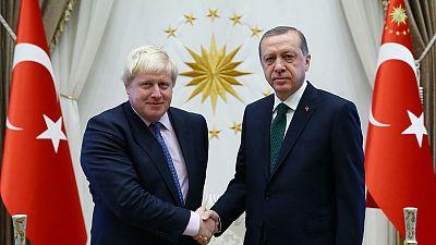 Turks welcome 'Ottoman grandson' Boris Johnson as British leader