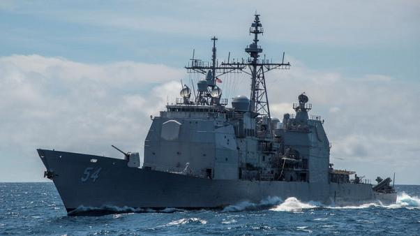 U.S. warship sails through strategic Taiwan Strait amid China tension