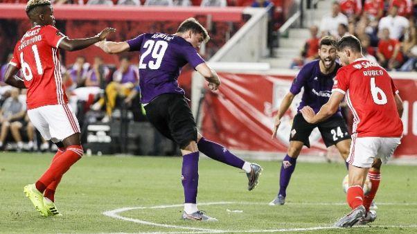 Fiorentina ko 2-1 contro il Benfica