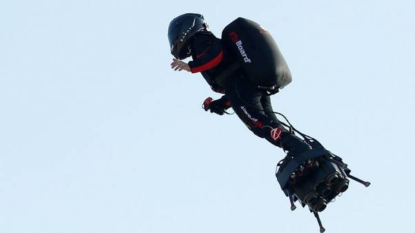 Flying Frenchman's hoverboard bid to cross Channel scuppered by fuel mishap