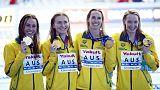 Australia set world record, win women's 4x200 freestyle gold