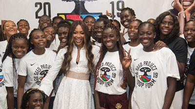 Naomi Campbell participe au SEED Project Hoop Forum 2019 au Sénégal