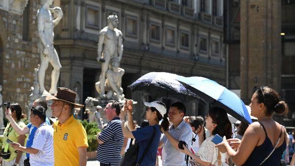 Caldo a Firenze, 40,9 gradi in centro