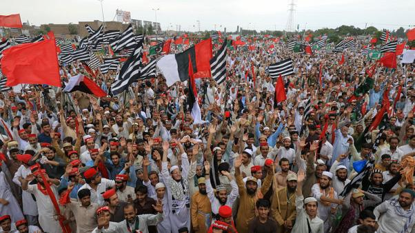 Pakistan opposition parties hold protest rallies against PM Khan