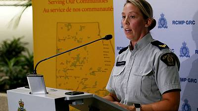 Canada police use drones, dogs in hunt for teenage murder suspects