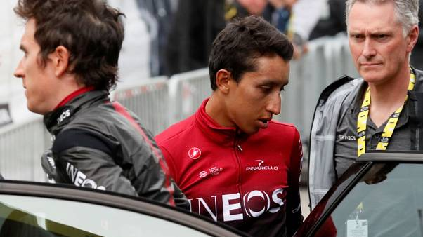 بيرنال يقتنص الصدارة مع توقف المرحلة 19 لسباق فرنسا للدراجات بسبب عاصفة