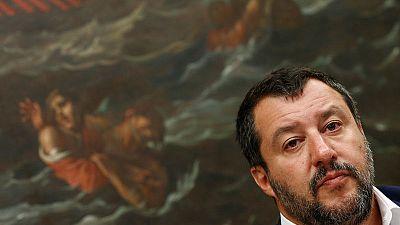 Italy's Salvini blocks own coastguard ship with migrants on board