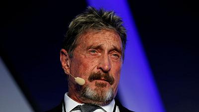 Dominican Republic sends McAfee to Britain, without guns or yacht