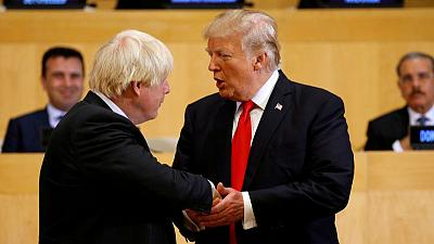 Johnson, Trump discuss trade, Brexit and Iran - Downing Street