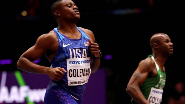 Athletics - Coleman dips under 10 seconds to win 100m semi-final