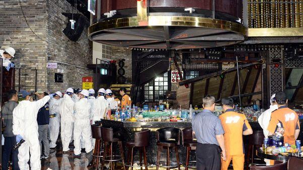 مقتل شخصين وإصابة رياضيين في انهيار بملهى ليلي في كوريا الجنوبية