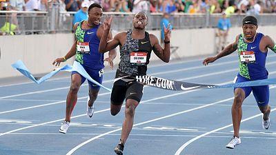 Coleman romps to U.S. 100 metres title