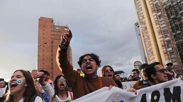 آلاف يحتجون في كولومبيا على مقتل نشطاء