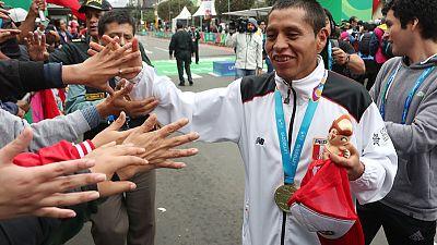 Pacheco win's men's marathon, completes sweep for Peru
