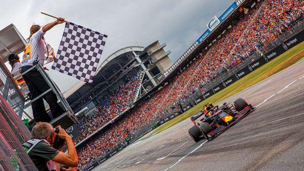 Verstappen wins crazy German GP as Hamilton extends lead