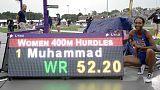 رقم عالمي لدليلة في 400 متر حواجز، ولايلس ينتصر في سباق 200 متر